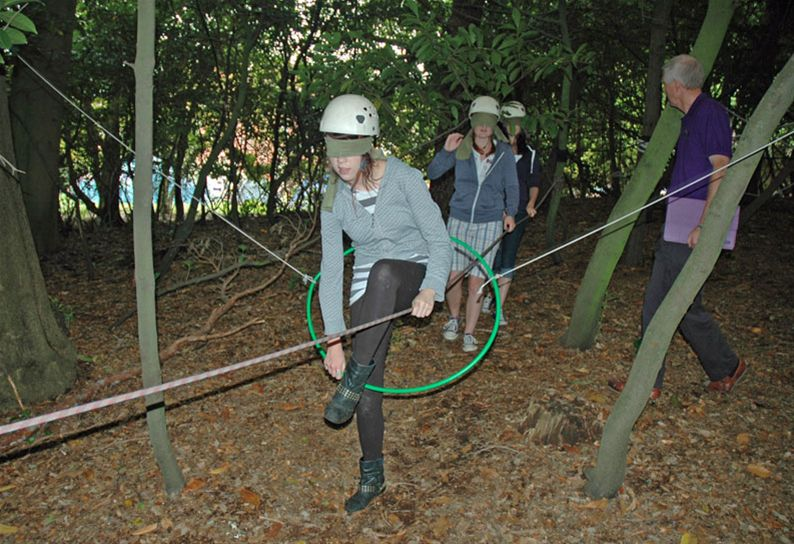 RYLA Courses Summer 2011 - A Trust Walk exercise called Nightline on the August RYLA course organised by Rotary Wessex