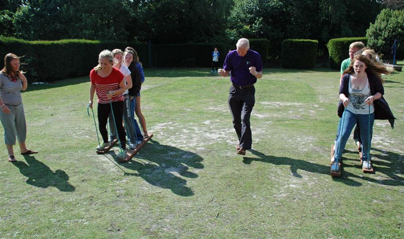 RYLA Courses Summer 2011 - A Rotarian led problem solving exercise called Plank Race on the August RYLA course organised by Rotary Wessex