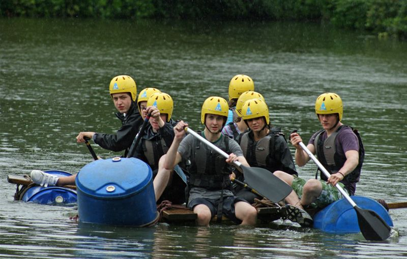 RYLA Courses Summer 2011 - A rafting exercise at the July RYLA Course organised by Rotary Wessex