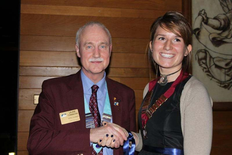 Oxford Rotaract Club receives its Charter - DG Laurie congratulates the new President