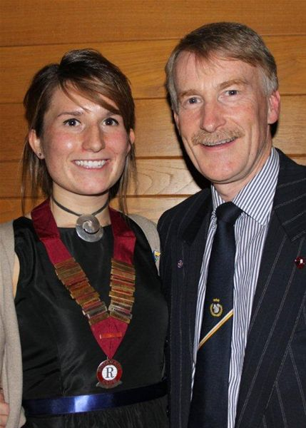 Oxford Rotaract Club receives its Charter - Sarah with proud father