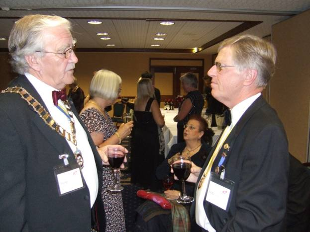 1240 Cambridge Conference 2008 - Our Treasurer Bob meets DG Peter from 1080