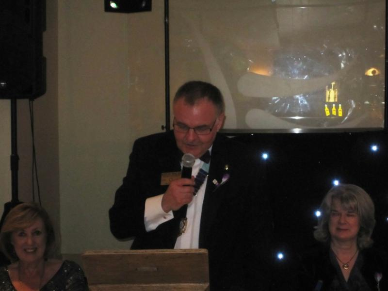 BLACKPOOL SOUTH ROTARY CLUB 2013  CHARTER DINNER.  - District Governor Kevin Walsh.