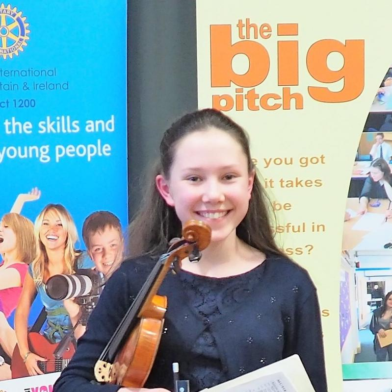 Taunton Rotary Young Musician takes top prize - Poppy at the more local District Final before going on to achieve second place at the National Final