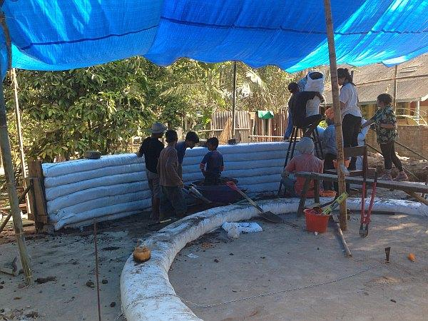 Lombok Earthquake Appeal - Building the walls
