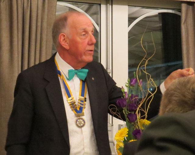 10th Anniversary Charter Dinner - President Martin Reed drawing the raffle