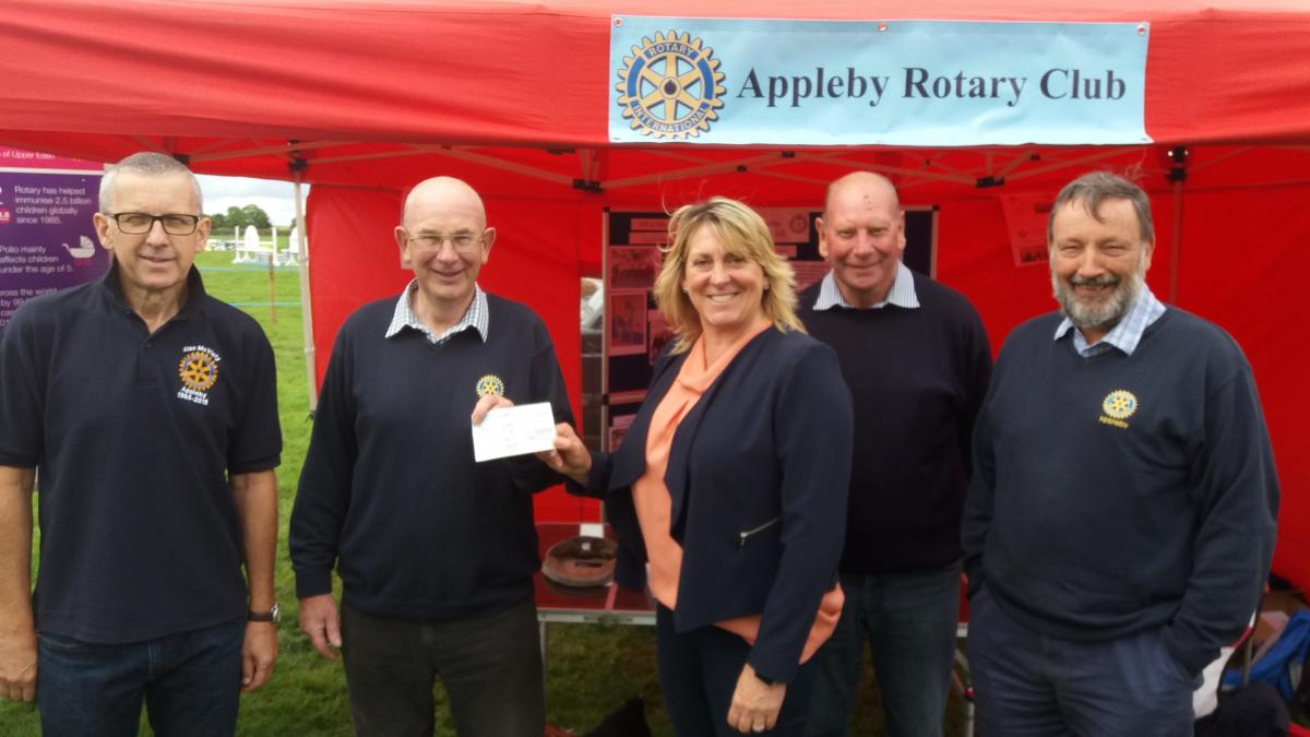 Shows - Cheque presentation at Dufton Show