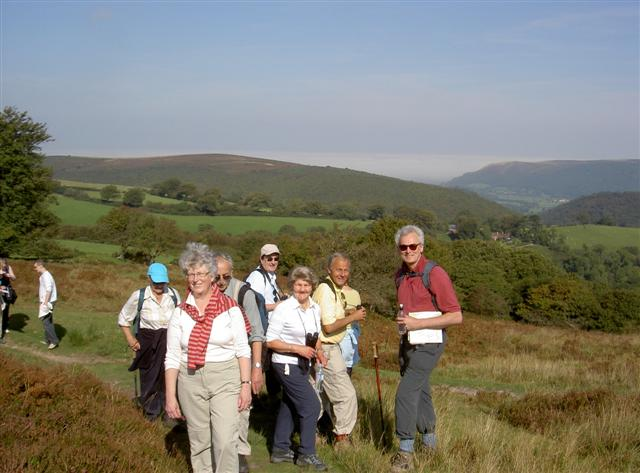 Walking Weekend in Exmoor - Sept 2008 -  At the start of the walk