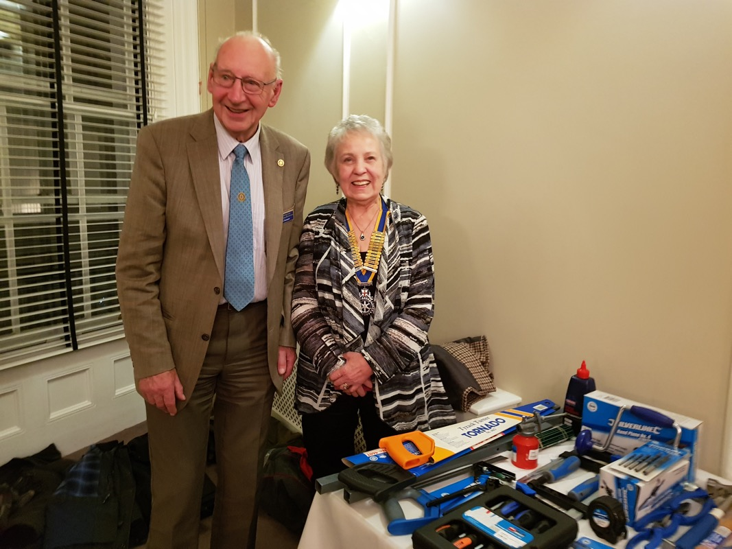 Club News 2017 - 2018 President Sheila Webb - Our Speaker on January 11th was Alan Geeson. Trade Aid supply boxes of tools and equipment to enable craftsmen and women to establish small businesses in their communities