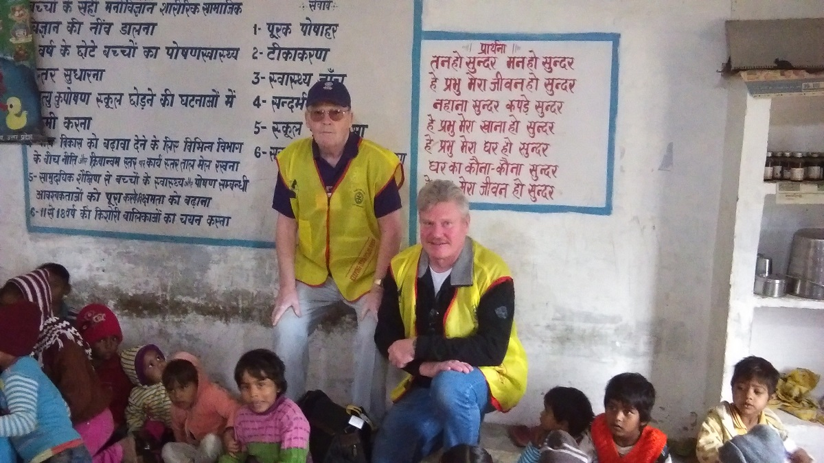 President Bob with the End Polio Now team in India -