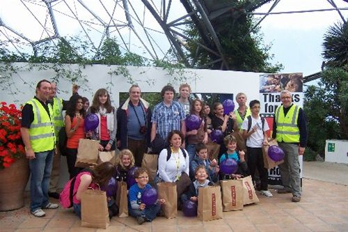 2010 Crocus Planting - Eden Project - Bodmin + Lostwithiel Members with proposed Interact Club members