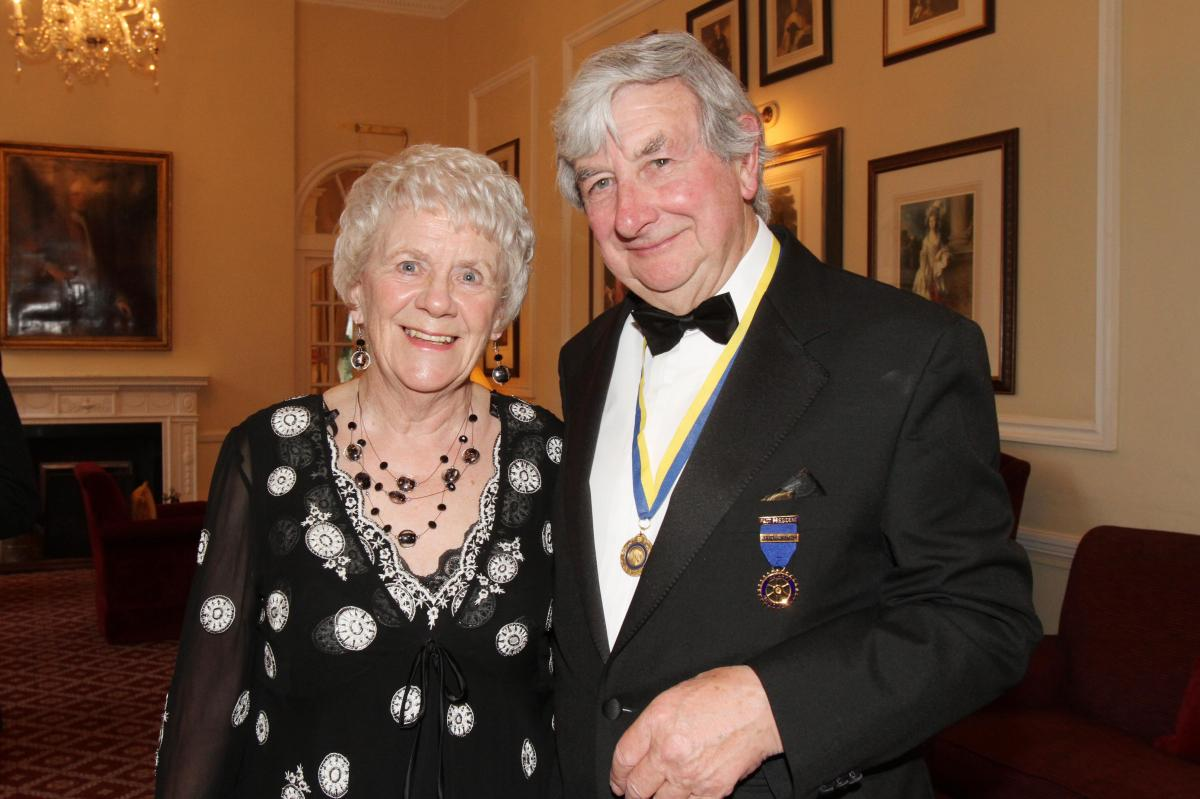 Cheltenham North Charter Anniversary Dinner 26th April 2012 - Edna and Brian Smith