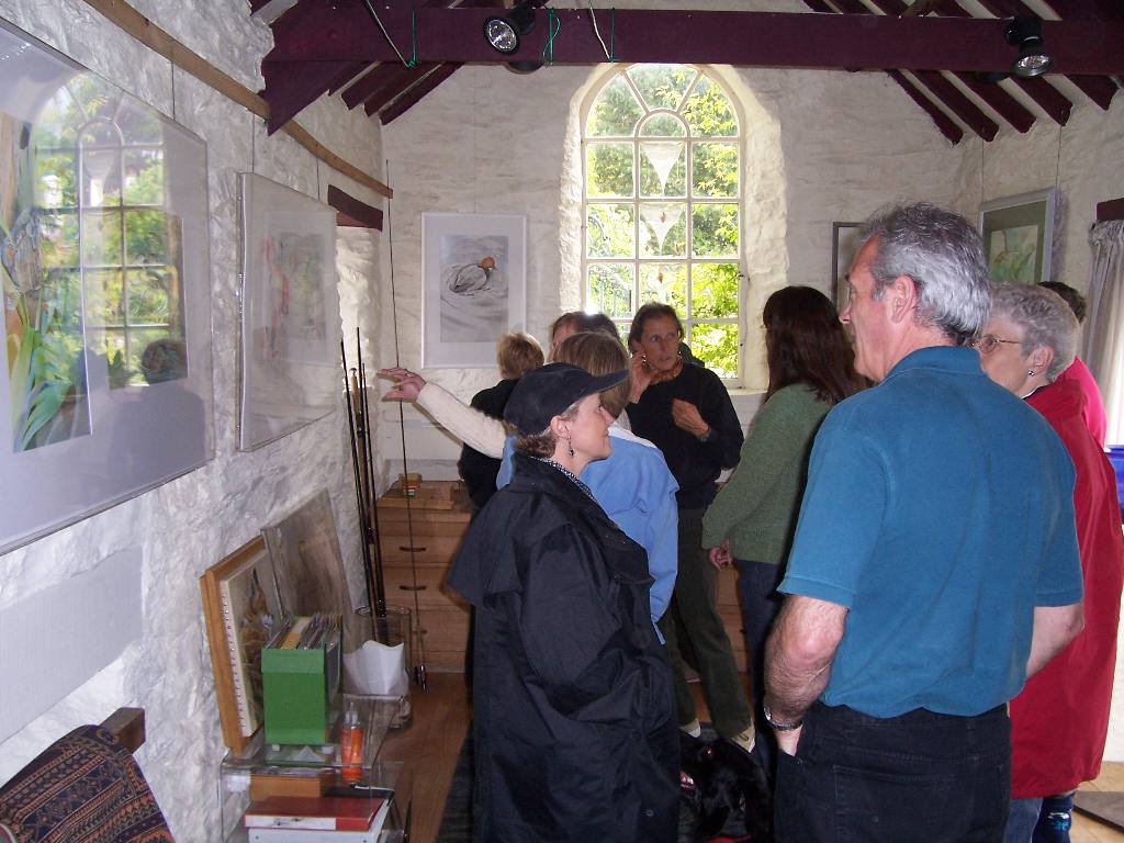 UELI'S EXMOOR WALK SUNDAY JUNE 4 2007 - Elizabeth's workshop-most of us never knew she was such a talented artist