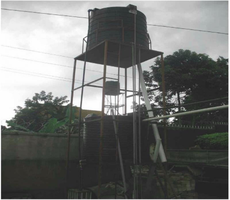 Three Water & Sanitation Projects in Entebbe -Uganda. - located on the metal tower.