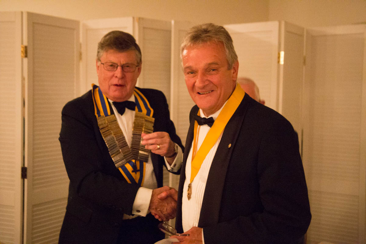 Thursday 29th June - Richard Deavin - Steve is inducted as President Elect