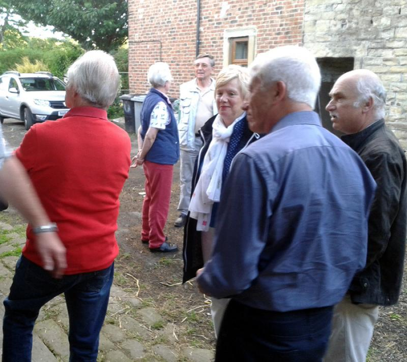 Outside Visit - Equine Pathways - Rotarians gathering for the visit
