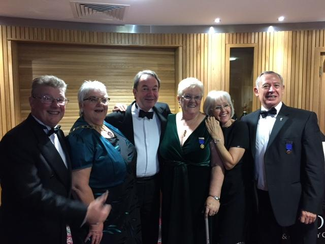 Trio of Past Presidents Reunite - l to r: Kevin and Ann Stuart, Eric Knowles, Fidelma de Faoite, Joan and Phil Hopps