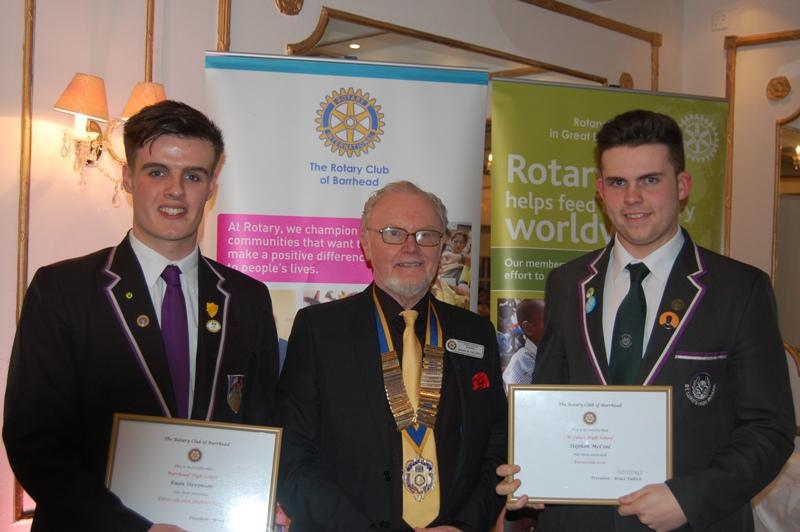 Annual - Young Linguist & Euroscola Awards 2016 - Stephen McCool, St Luke's Winner & Runner-Up, Euan Stevenson
