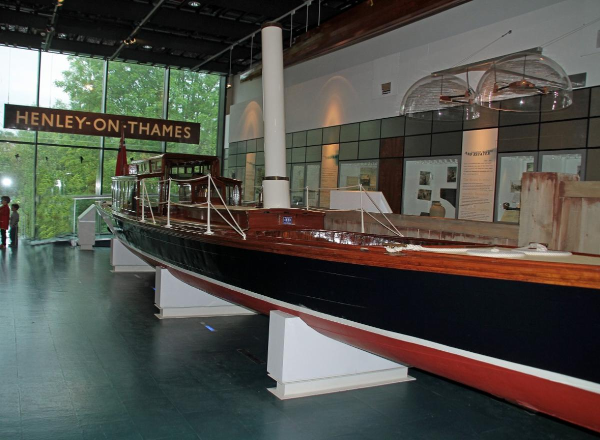 Visit to Henley River and Rowing Museum May 2016 - This original launch from 1876 had been built in Chiswick and used at one of the first Regattas at Henley