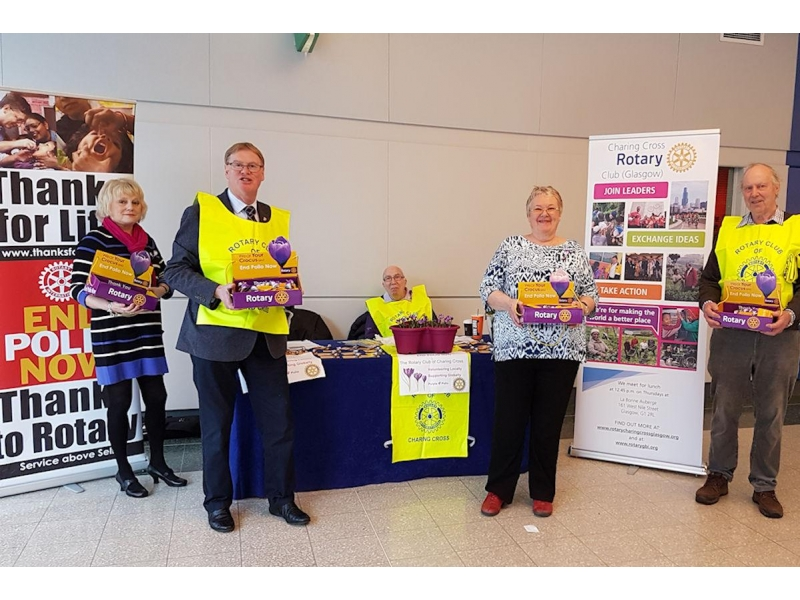 Rotary Foundation - Members collecting at the SECC on 25th February
