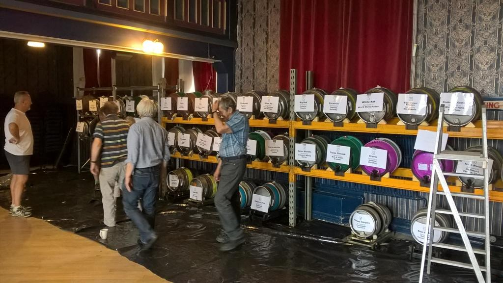 Inaugural Aireborough Beer festival - Everything under control
