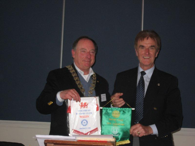 Trip to the Rotary Club of Dun Laoghaire  - Exchange of Pennants