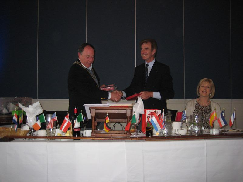 Trip to the Rotary Club of Dun Laoghaire  - Exchange of gifts