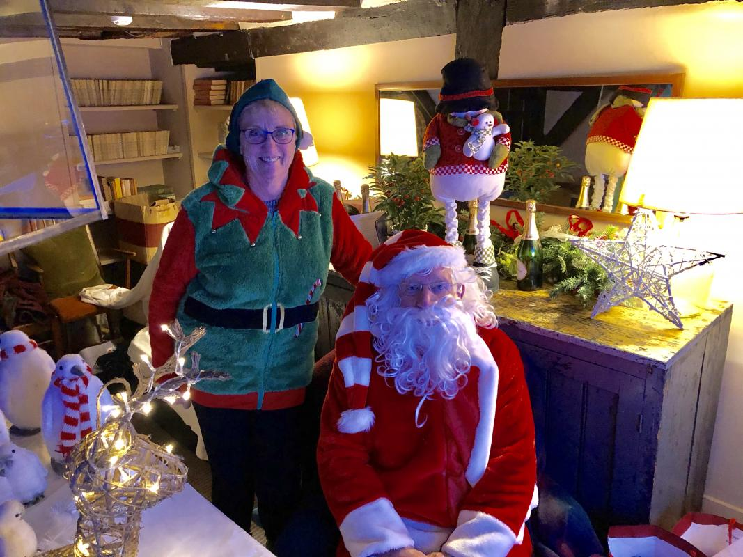 Rotary has a record-breaking Christmas Collection - Our grotto at the Odiham Extravaganza.