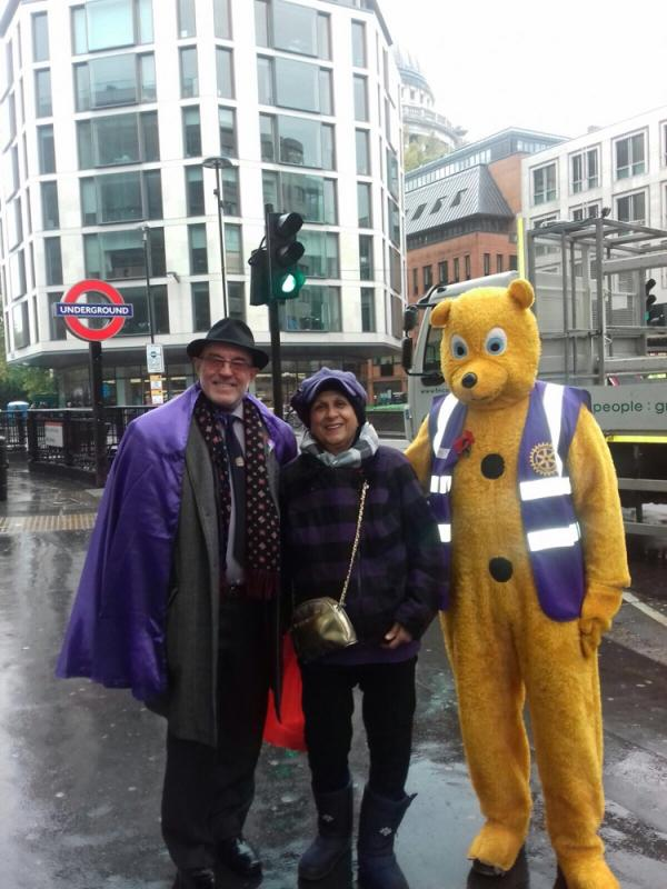 Rotary at the 2017 Lord Mayor's Show in the City of London -