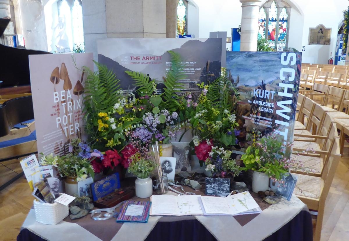 Community Flower Festival - The local Art Society's display