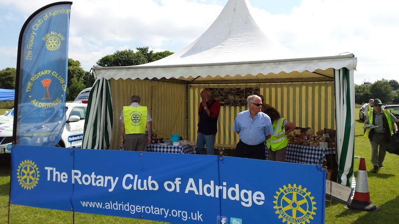 Lions' Aldridge Fair - Early morning tent all set up, sun is shining and we are ready to go.