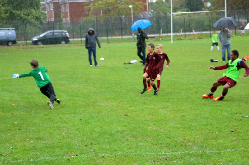 Mount Grace Seven-a-Side Football Tournament - Final Action with Cranbourne Keeper