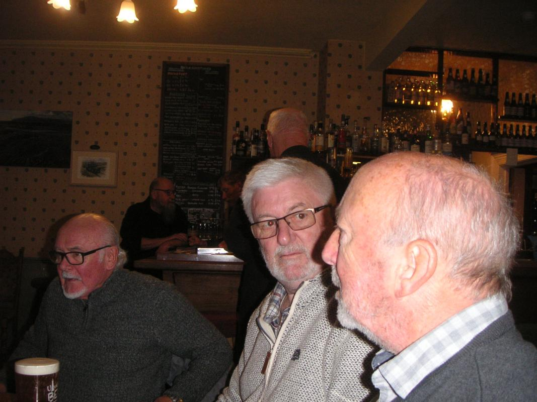 OUT MEETING - Prince of Wales Foxfield - Colin expounding on the ale we are quaffing