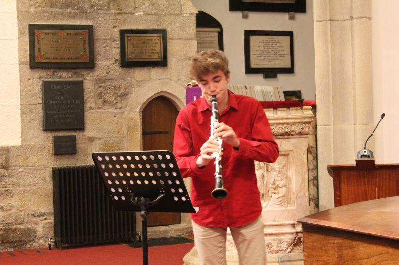 Young Musician Competition 2016 - Fred Bareham on clarinet who won straight through to the District Finals at Plymouth later this year.
