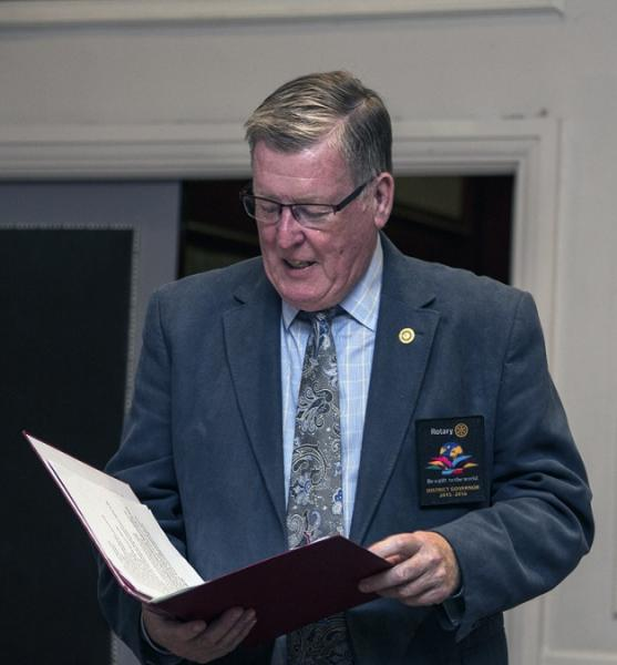 Fred King visiting Thame Rotary - Photo: Ross Dike