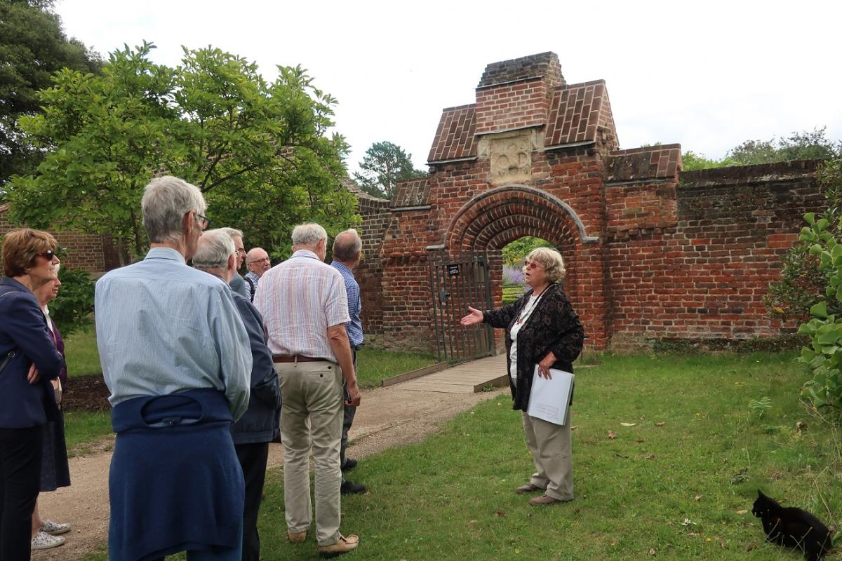 Visit to Fulham Palace August 2019 - Guide Esther showing us round the grounds