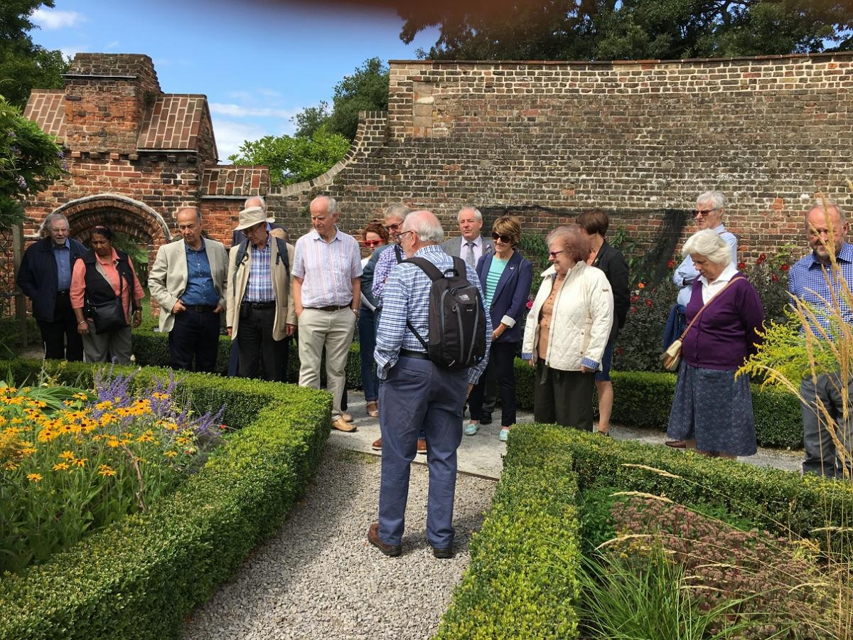 Visit to Fulham Palace August 2019 - Charlie showing round the walled garden
