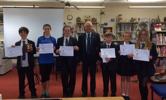 Youth - All competitors of the Key Stage 3 Speaking & Listening competition at Ilfracombe Academy with their certificates.