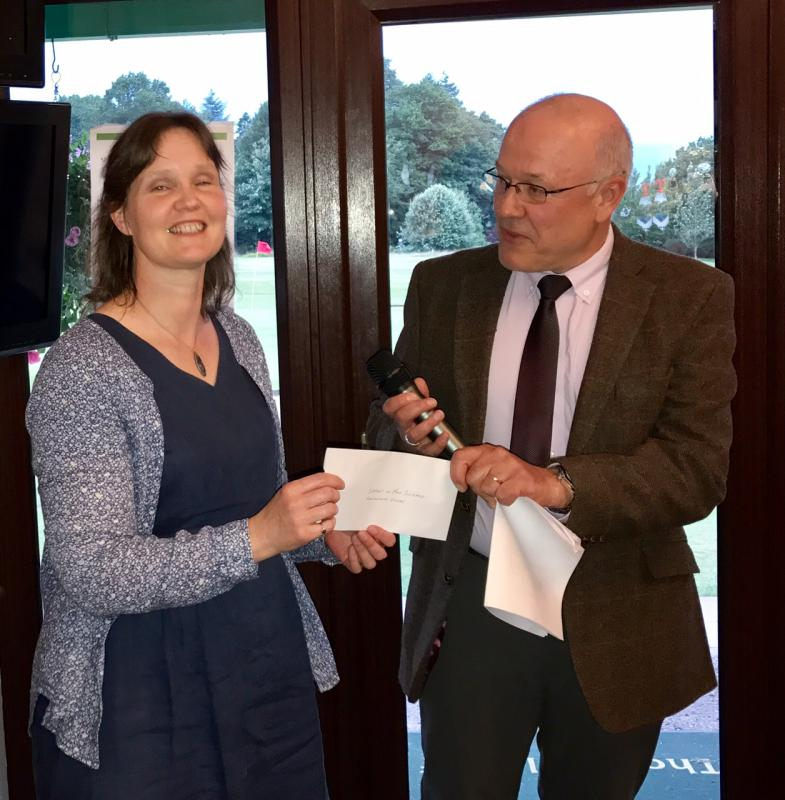 Annual Am/Am Golf Competition 2017 - Support in Mind Scotland-Kaleidoscope receiving cheque for £1,000.00