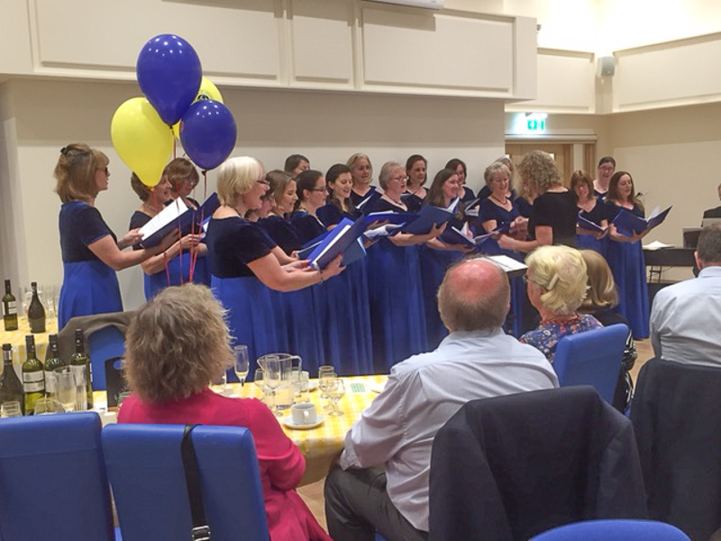 First Rotary Dinner at the Refurbished Club - bring the evening to an end with a concert