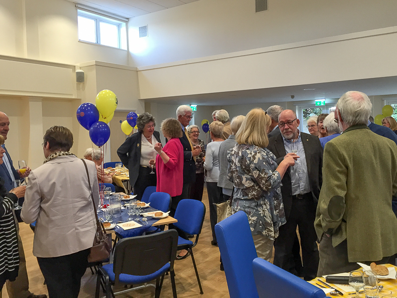 First Rotary Dinner at the Refurbished Club - members of Rotary and Inner Wheel seeing the