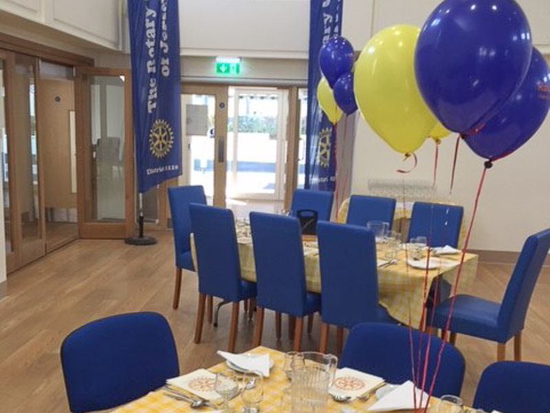 First Rotary Dinner at the Refurbished Club - or at least for a Rotarian!