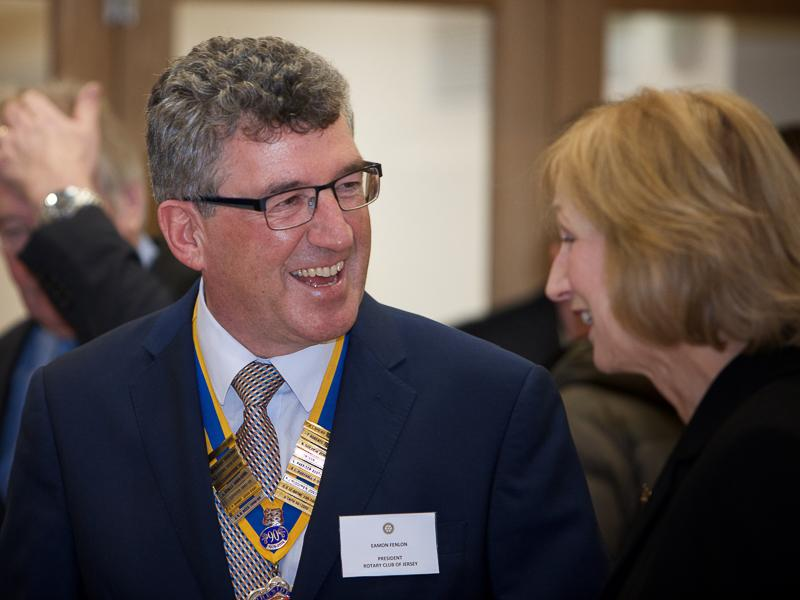 Good Companions Club Opening - President Rotary Club of Jersey Eamon Fenlon  Lady McColl