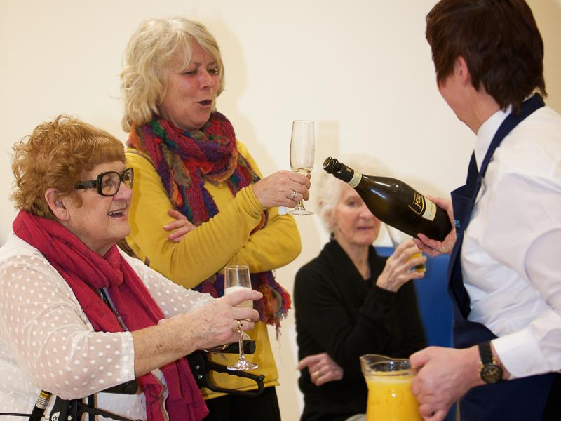 Good Companions Club Opening - Lyn Wilton and her Mum enjoy the celebrations