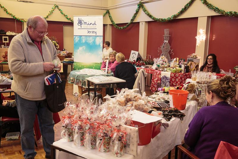Good Companions Christmas Fair 2013 - The Chairman finds his wallet, well done Jerry.