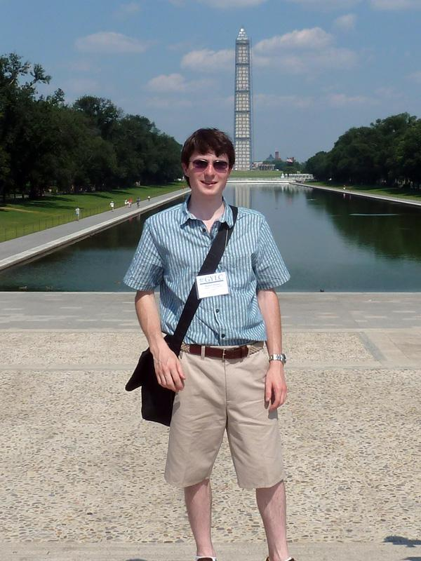 Lunchtime Meeting - 12.45pm - Speaker Matthew Masters - GYLC - Matthew at the Washington Monument