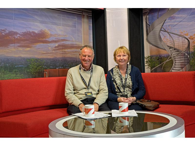 Visit to BBC Media City Salford - from the Red Sofa