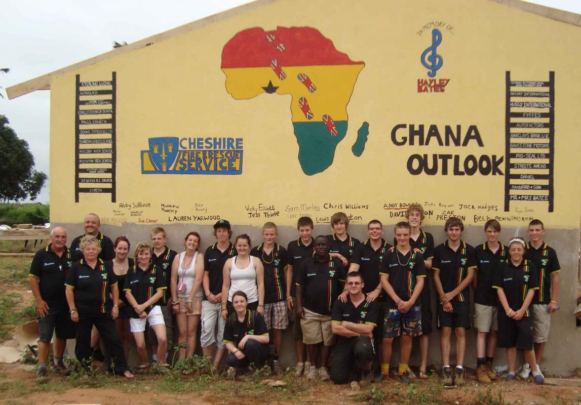 THE ROTARY FOUNDATION - ROTARY'S OWN CHARITY - Assistance to Widnes Fire Cadets to travel to Ghana to help to build and furnish a school in Gbatana.