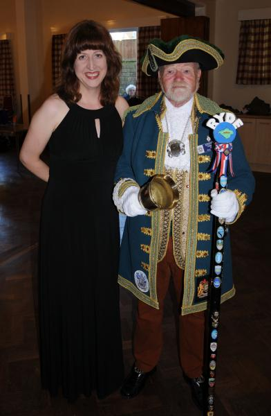 American Northwest Girlchoir and Young Voices of The Isle of Wight Concert 29 06 2013 - American Northwest Girlchoir's Sara Boos with Ryde's town crier