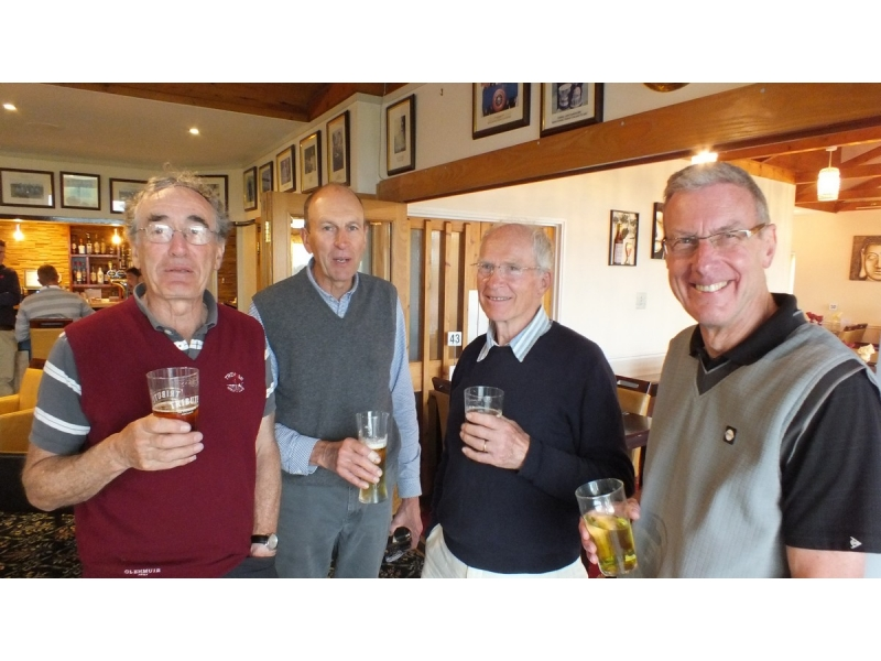20th Annual Mayor of Truro's Charity Golf Day, 12 May 2017 - Fearsome Foursome - John Evers, Alan Branscombe, Peter Hudson, Robert Cowie